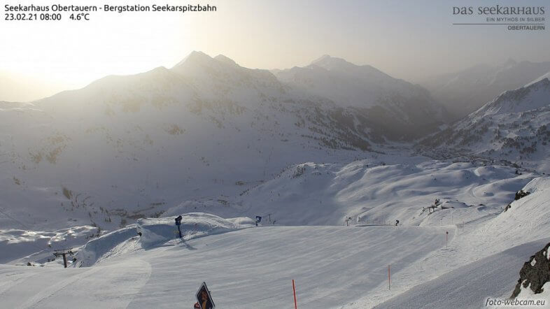 Webcam Seekarhaus / Obertauern heute in der Früh - https://www.foto-webcam.eu/webcam/obertauern2/