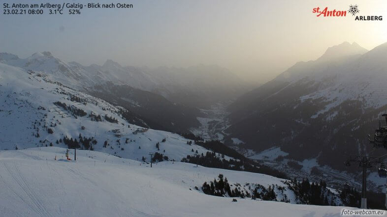 Webcam Sankt Anton am Arlberg heute in der Früh - https://www.foto-webcam.eu/webcam/st-anton/