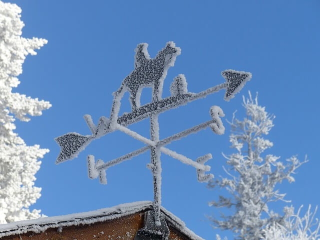 Polarluft und stürmischer Wind sorgen für starken Windchill-Effekt