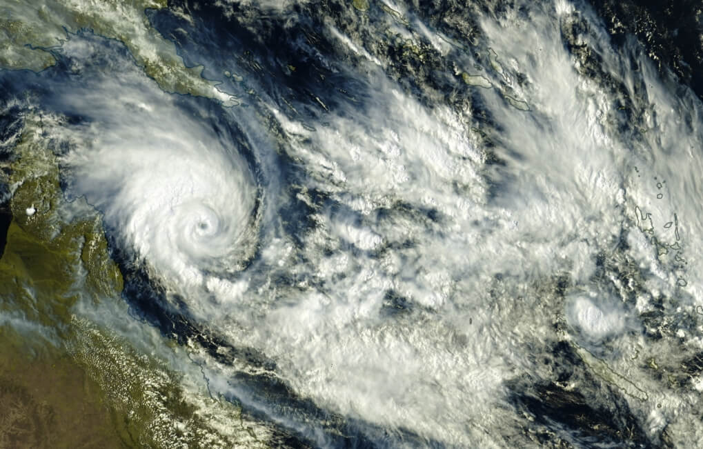 Zyklon Niran trifft auf Neukaledonien