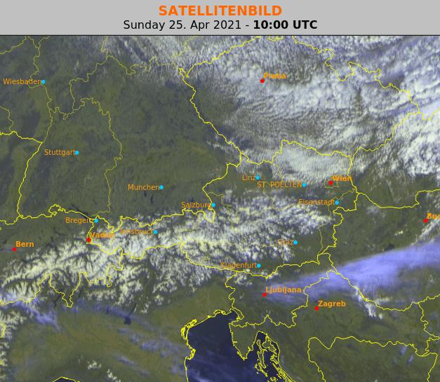 Satellitenbild um 12 Uhr MESZ - EUMETSAT