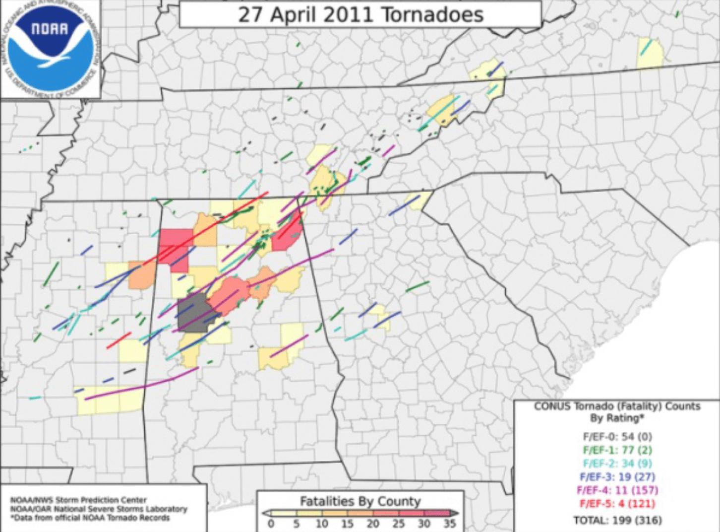 Vor 10 Jahren: Tornado 'Super-Outbreak'