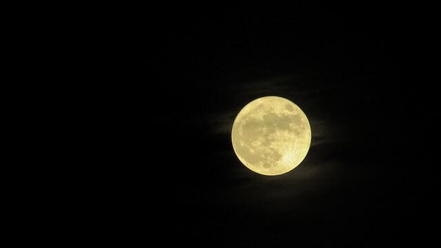 Kommende Nacht Supermond zu sehen
