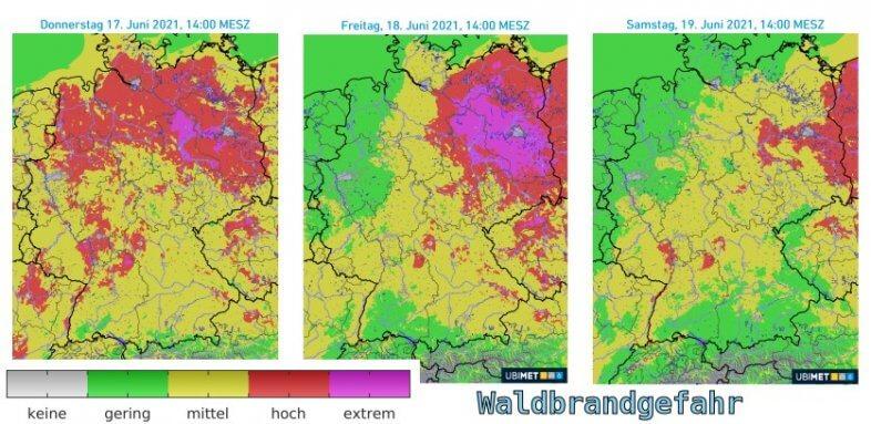 Teils extreme Waldbrandgefahr in den kommenden Tagen - UBIMET