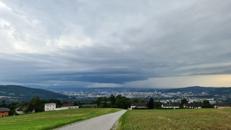 Heftiges Gewitter in Oberösterreich am 28.07.2021 - Storm Science Austria
