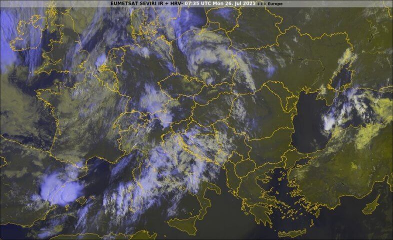Satellitenbild um 09:35 Uhr - EUMETSAT, UBIMET