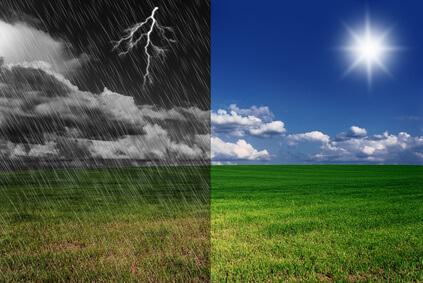 Am Dienstag neuerlich kräftige Gewitter, im Osten heiß