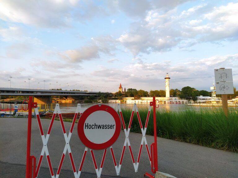 Hochwasser an der Neuen Donau in Wien am 19.07.2021 - UBIMET