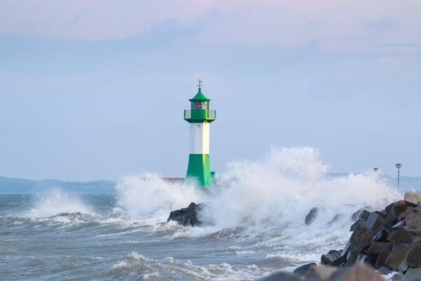 Kräftiger Sturm am Dienstag