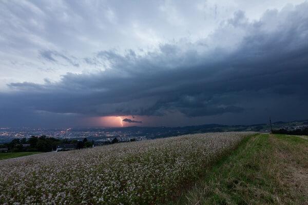 Nachlese: Kaltfront brachte heftige Gewitter und Starkregen