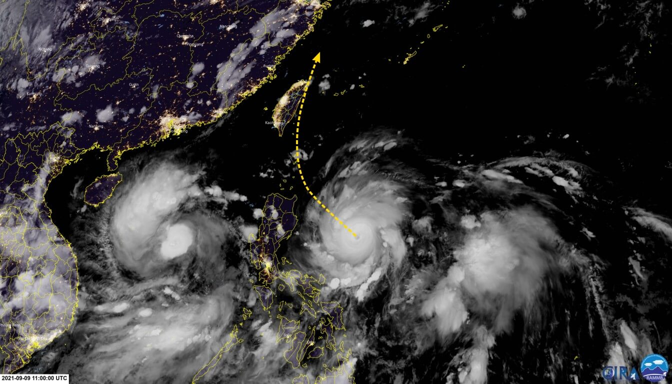 Super-Taifun Chanthu über dem Pazifik nimmt Kurs auf Taiwan