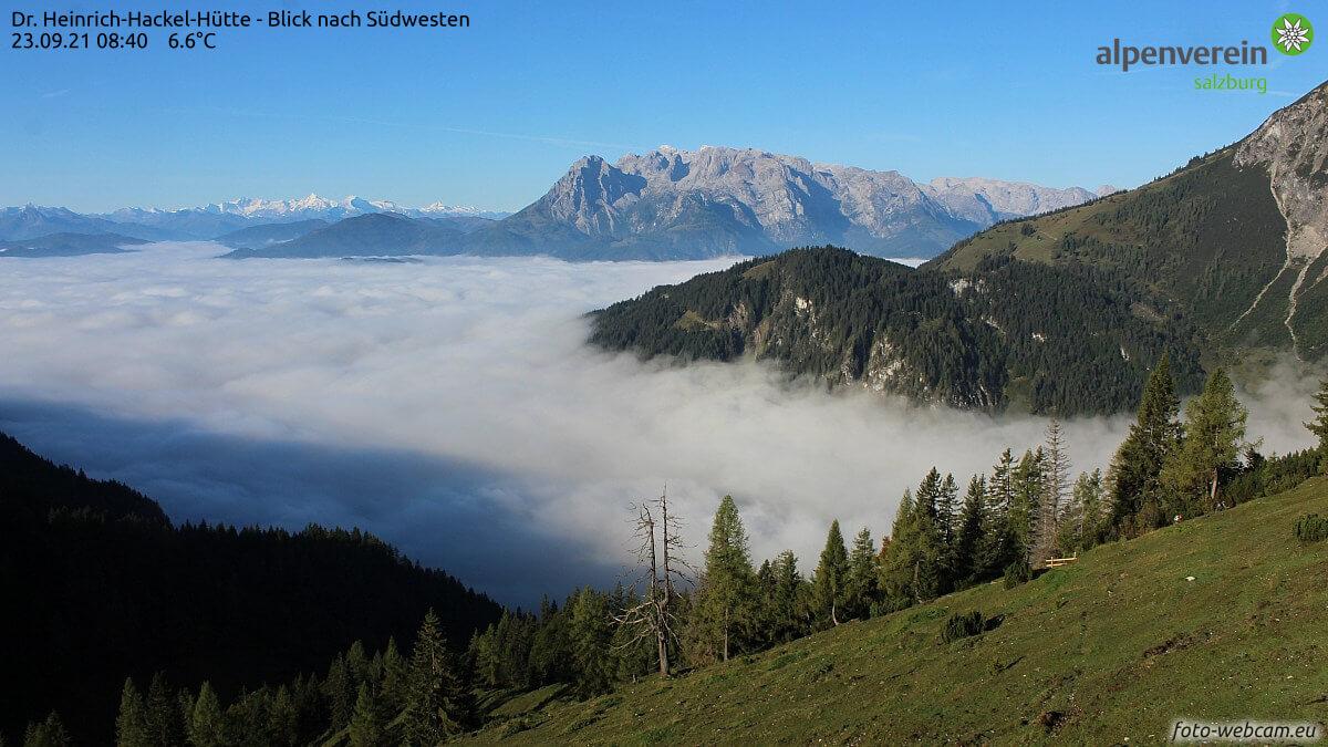 Hochnebel in den Alpen